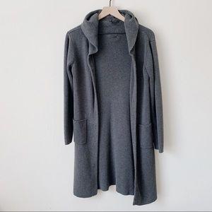 Sweaters - Long Grey Cardigan